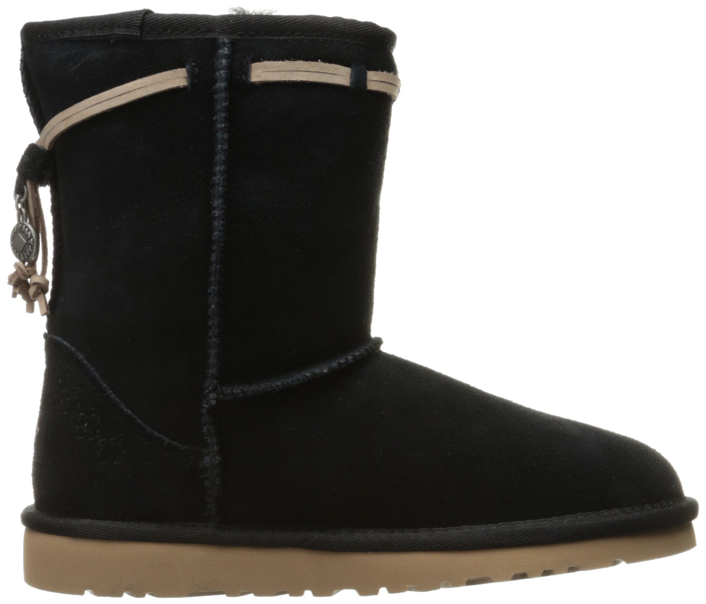 UGG Kids' K Classic Short Carranza Pull-on Boot, Black, 2 M US Little Kid by UGG (Image #7)
