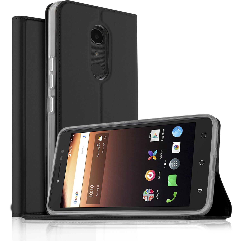 Funda Alcatel One Touch A3 XL, KuGi Slim Flip Cover Carcasa Cubierta ...