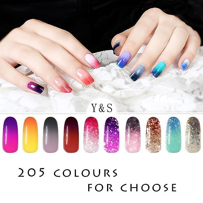 Esmalte de uñas de gel que cambia de color, Y&S. Cambia de color según la temperatura. Laca de uñas permanente UV LED de 8 ml: Amazon.es: Belleza