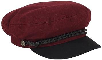 2a636e5b4943f Brixton Fiddler 0702 Cap burgundy Size XL  Amazon.co.uk  Sports ...