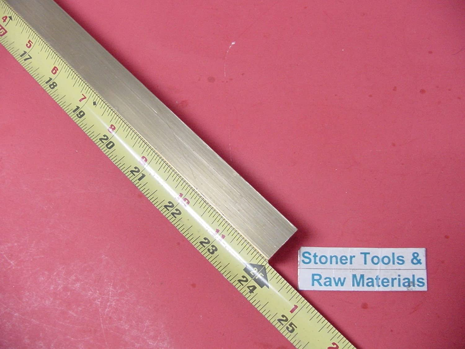 3//4 x 3//4 C360 BRASS SQUARE BAR 24 long Solid .750 Flat Mill Stock H02