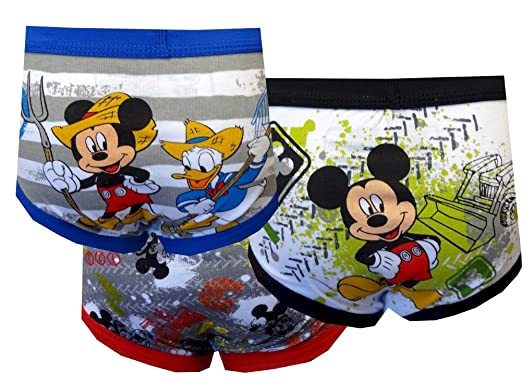 59ba42ced6732 Amazon.com: Disney Mickey Mouse Little Boys' Toddler Club Friends 3-Pack  Briefs: Clothing