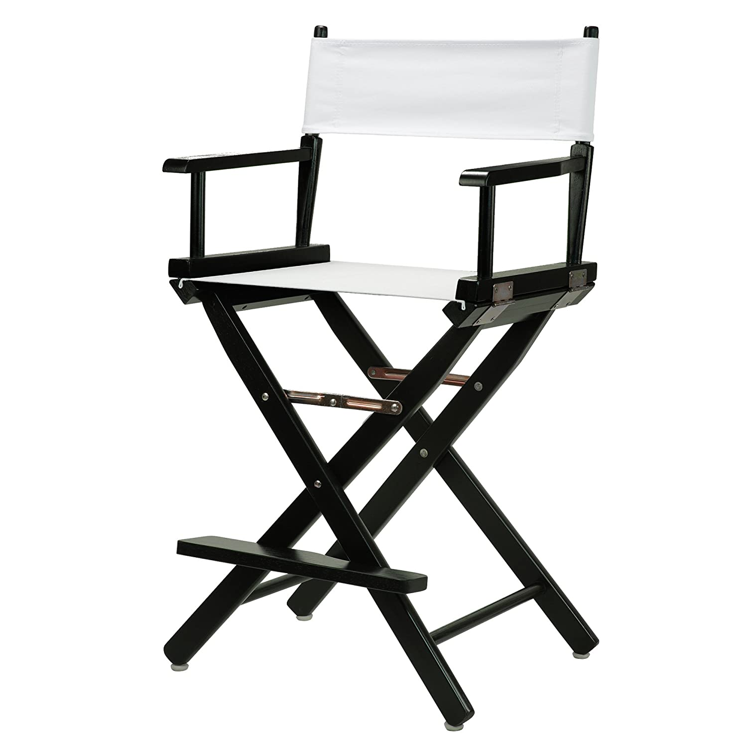 White 24-Inch Casual Home 24-Inch Director Chair Black Frame, Hunter Green Canvas