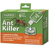 Harris Ant Killer, 3oz Liquid Borax Poison Value Pack Includes 9 Bait Trays for Indoor Use