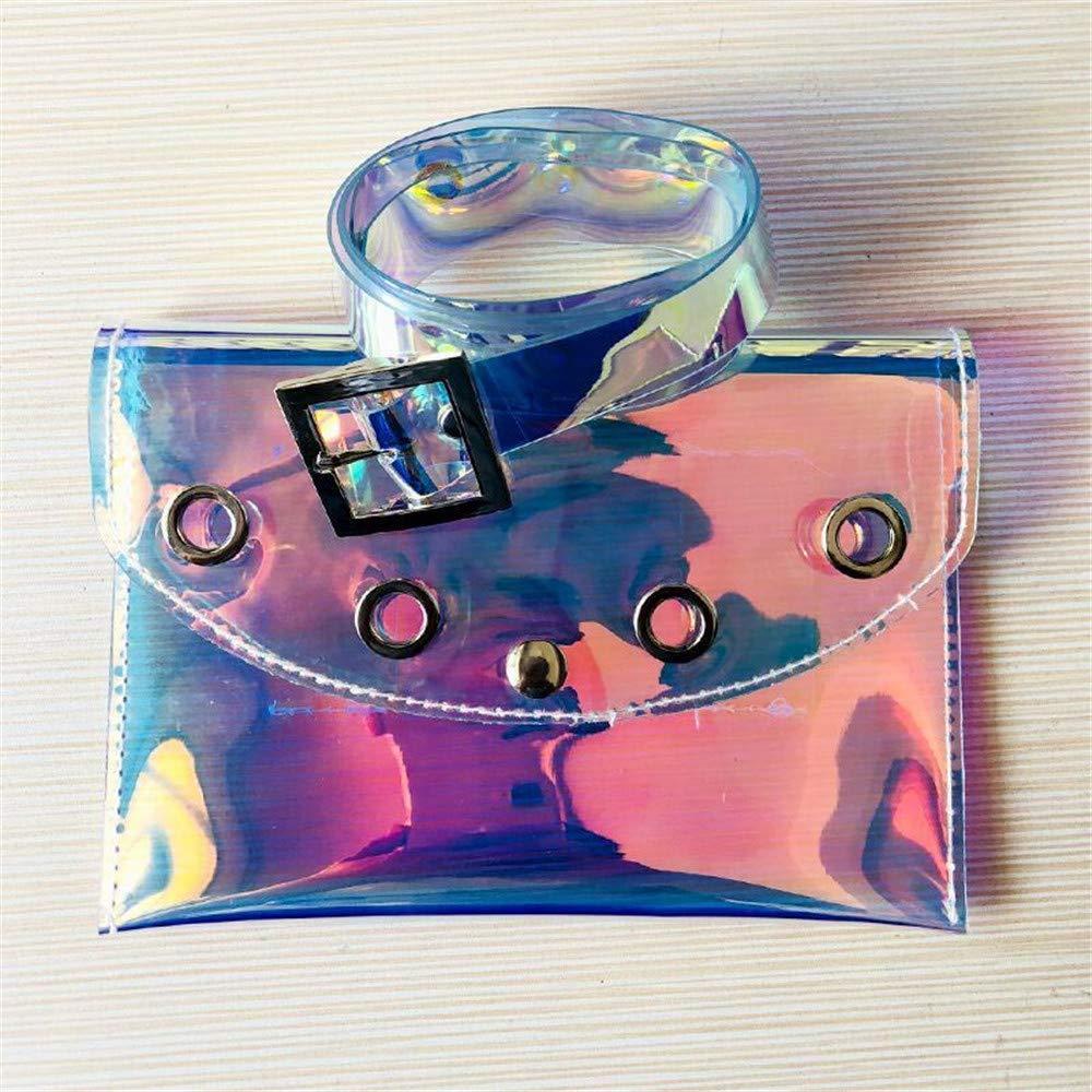 Color : Clear Elegant Belt Women Waist Bag Belt Bag Transparent PVC Fanny Pack Removable Belt with Waist Pouch Mini Purse Wallet Travel Cell Phone Bag Simple Ladies Belt