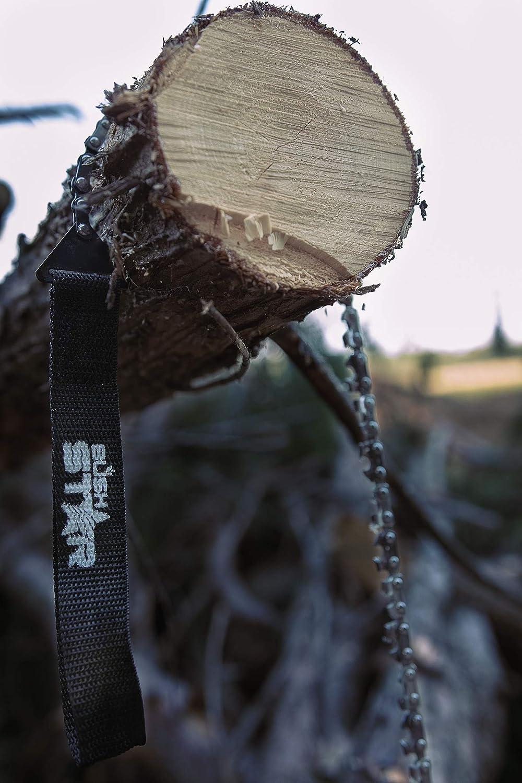 G/ürteltasche und Gratis FEUERSTARTER Holz Schnell und Einfach s/ägen Premium Hand-//AST-//Holz-//Gartens/äge f/ür Survival Bushstar Handkettens/äge mit 33 Z/ähnen inkl Outdoor /& Camping