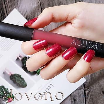 Jovono Full False Nail Tips Fake Nails 24pcs for Women and Girls  (Squoval)(No glue)