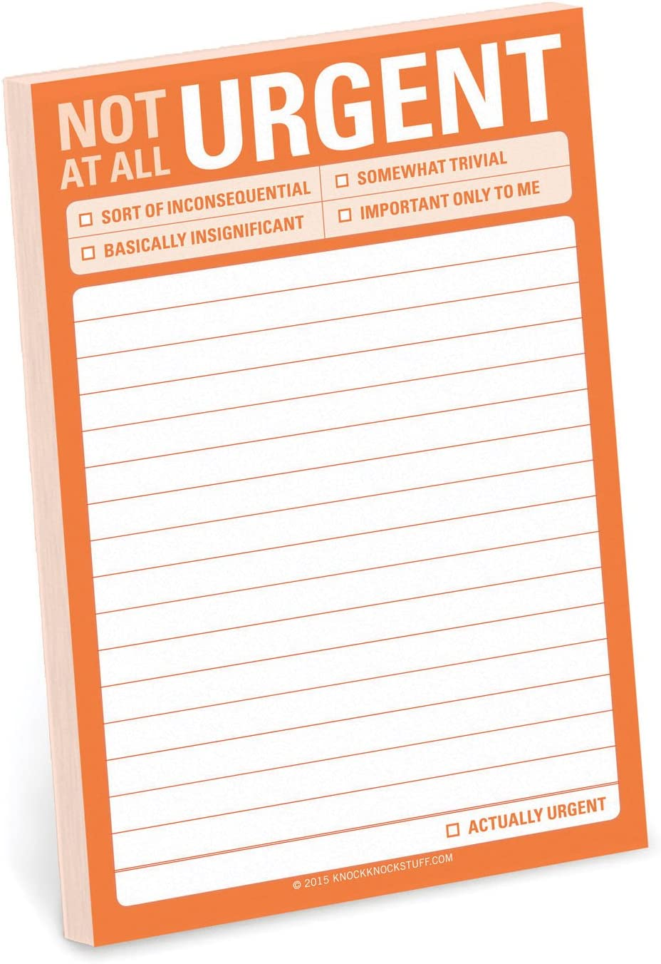 Knock Knock Sticky Note Pad, Not at All Urgent (12536)