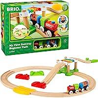 Brio BRI33727 My First Railway Beginner Pack, 18 Pieces Train Set