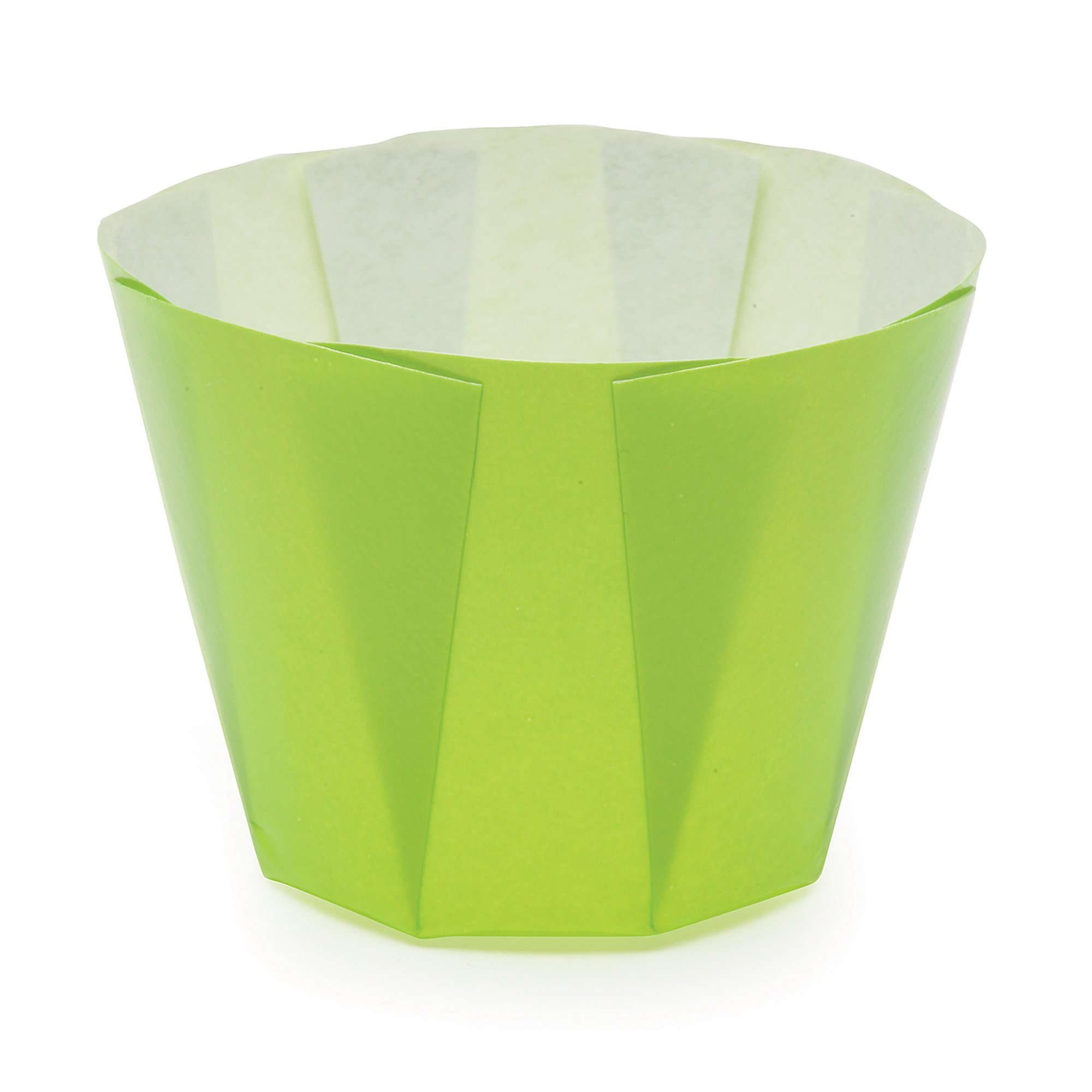Welcome Home Brands Tulip Baking Cups, Bright Green, 1.5''d x 1.7''h, Case/600
