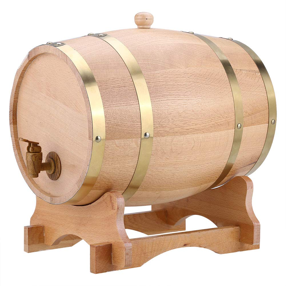 Cocoarm Oak Barrel, 10L Vintage Wood Oak Timber Wine Barrel Dispenser for Whiskey Bourbon Tequila