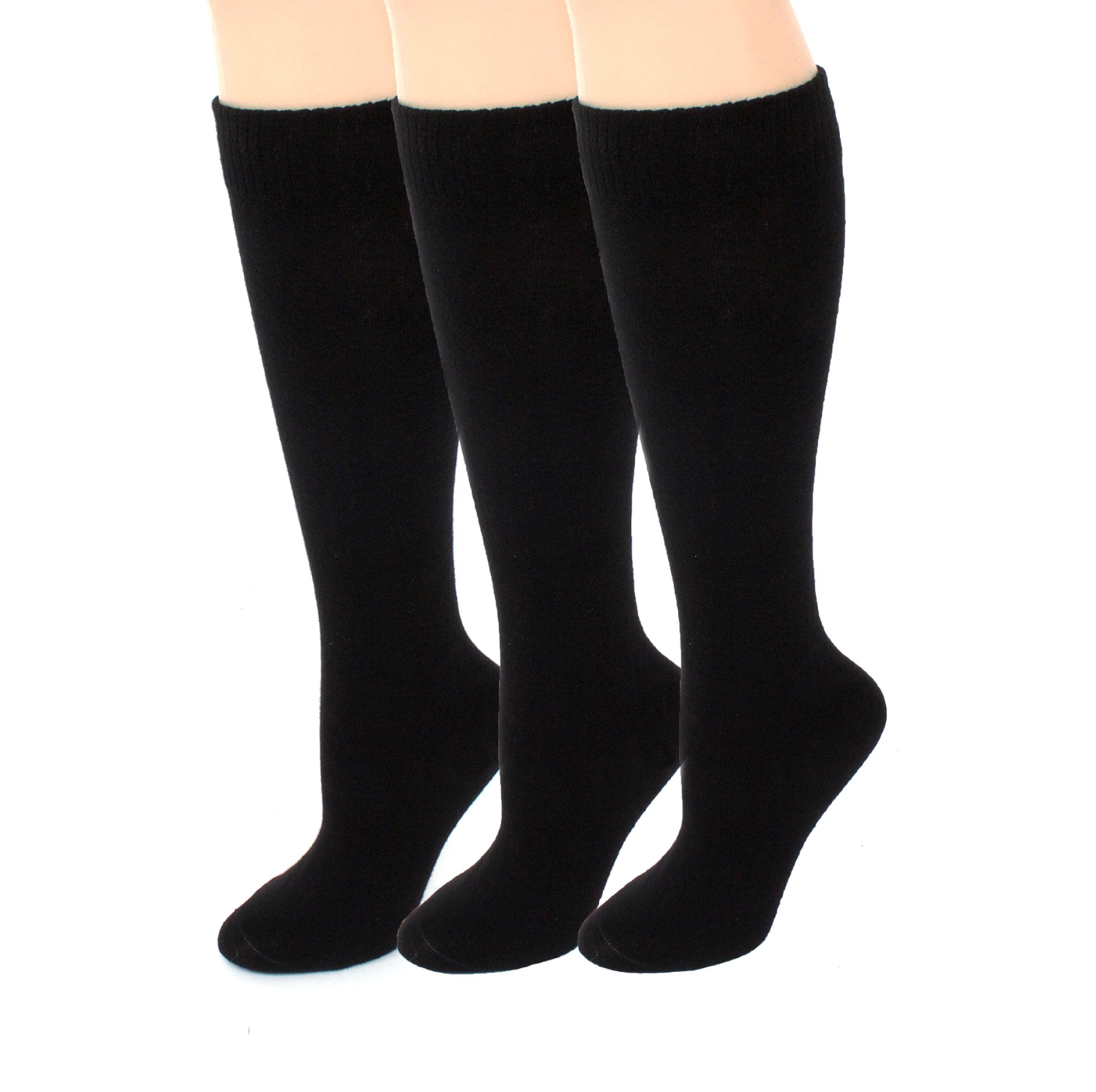 Amazon.com: Diabetic Socks Knee High | Womens Black/Navy