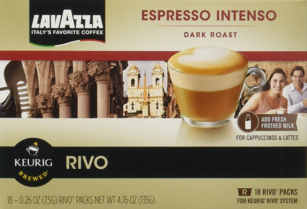 B00B7STQQ8 Lavazza Intenso, Espresso Packs for Keurig Rivo Systems,18 CT-Pack of (4) 71m-WVDiaTL._SL1211_