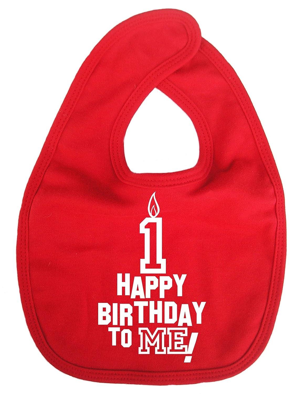 Dirty Fingers, Happy 1st Birthday to Me, Baby Unisex Bib, Red DFBIBhappy1stbdayR