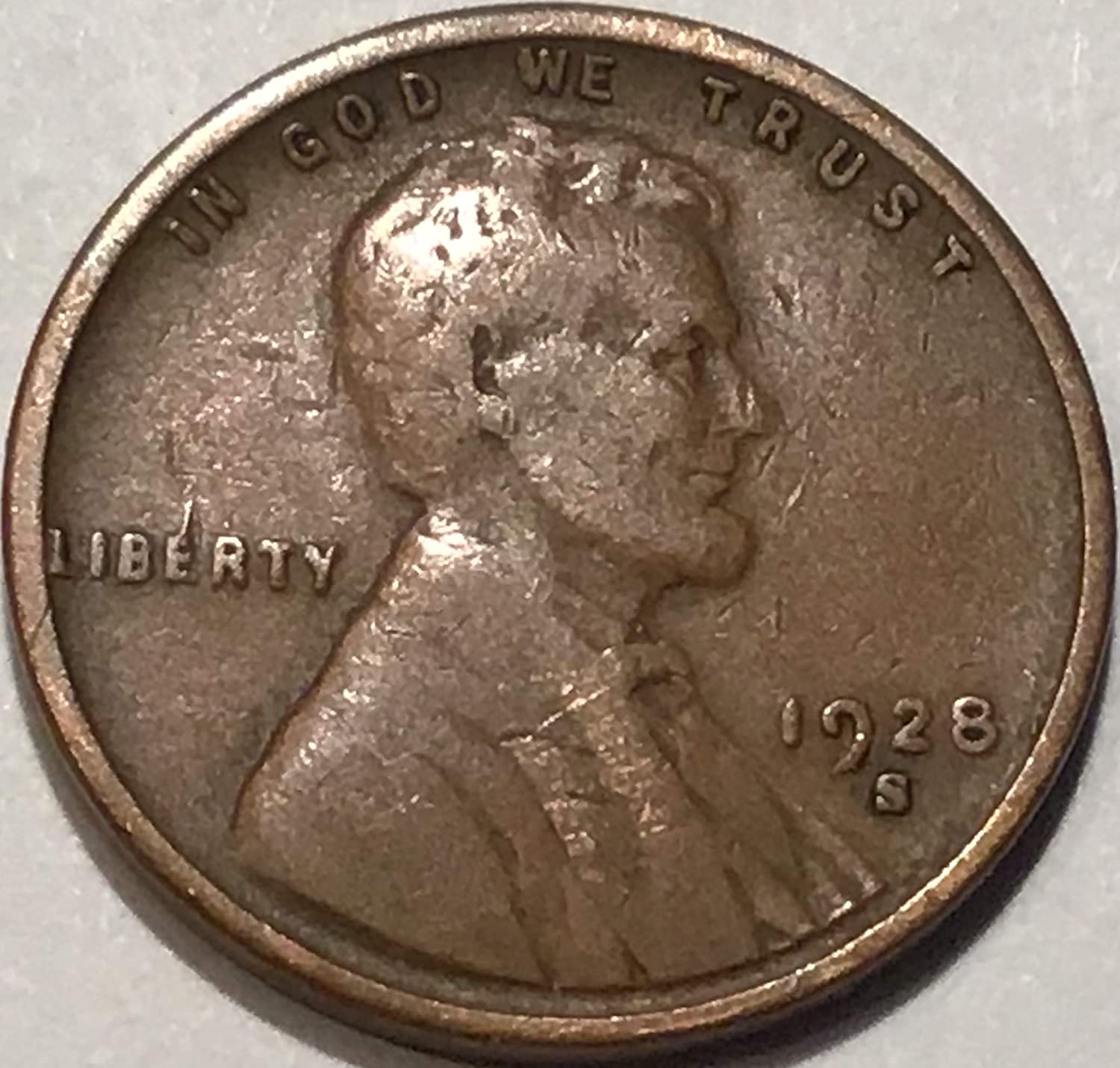 1928-S Lincoln Wheat Cent in VF