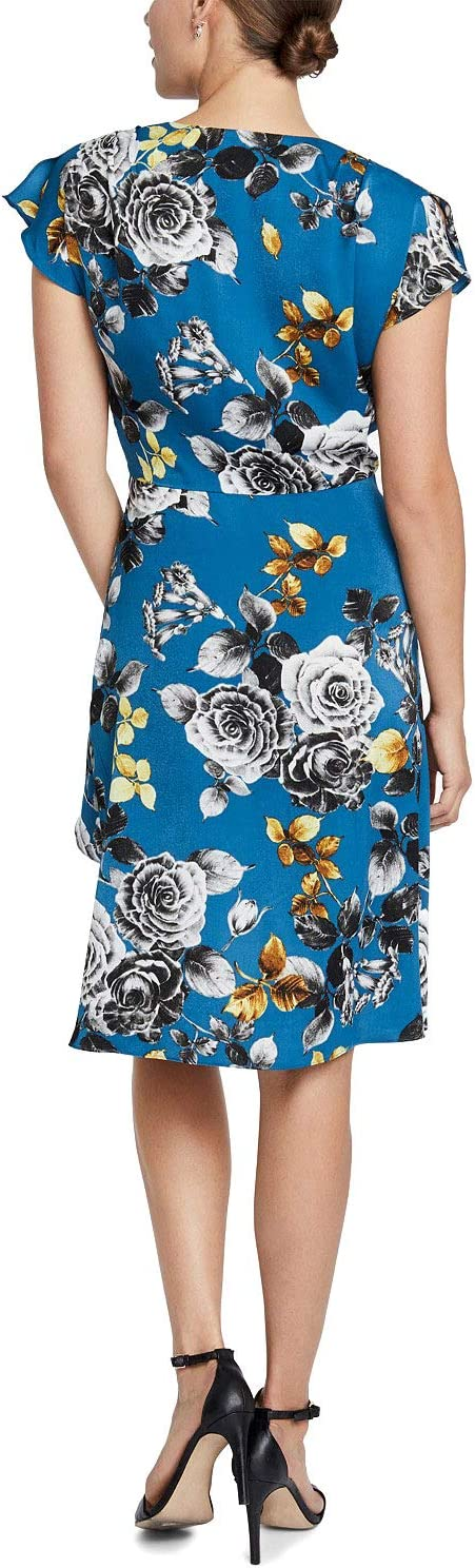 Rachel Rachel Roy Womens Pierce Floral Mini Wrap Dress