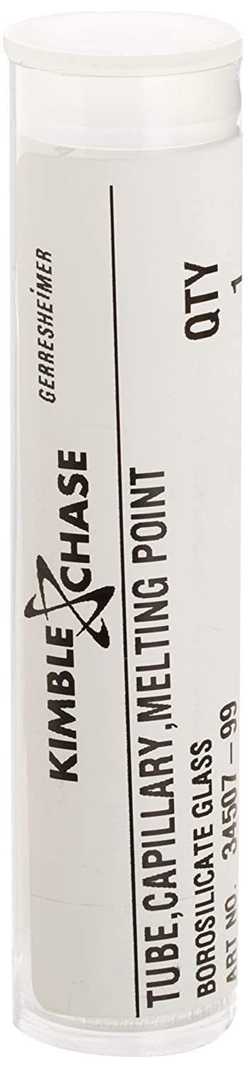 Kimble 34500-99 Borosilicate Glass Melting Point Capillary Tube with Both Ends Open 1 ml Capacity Pack of 2000