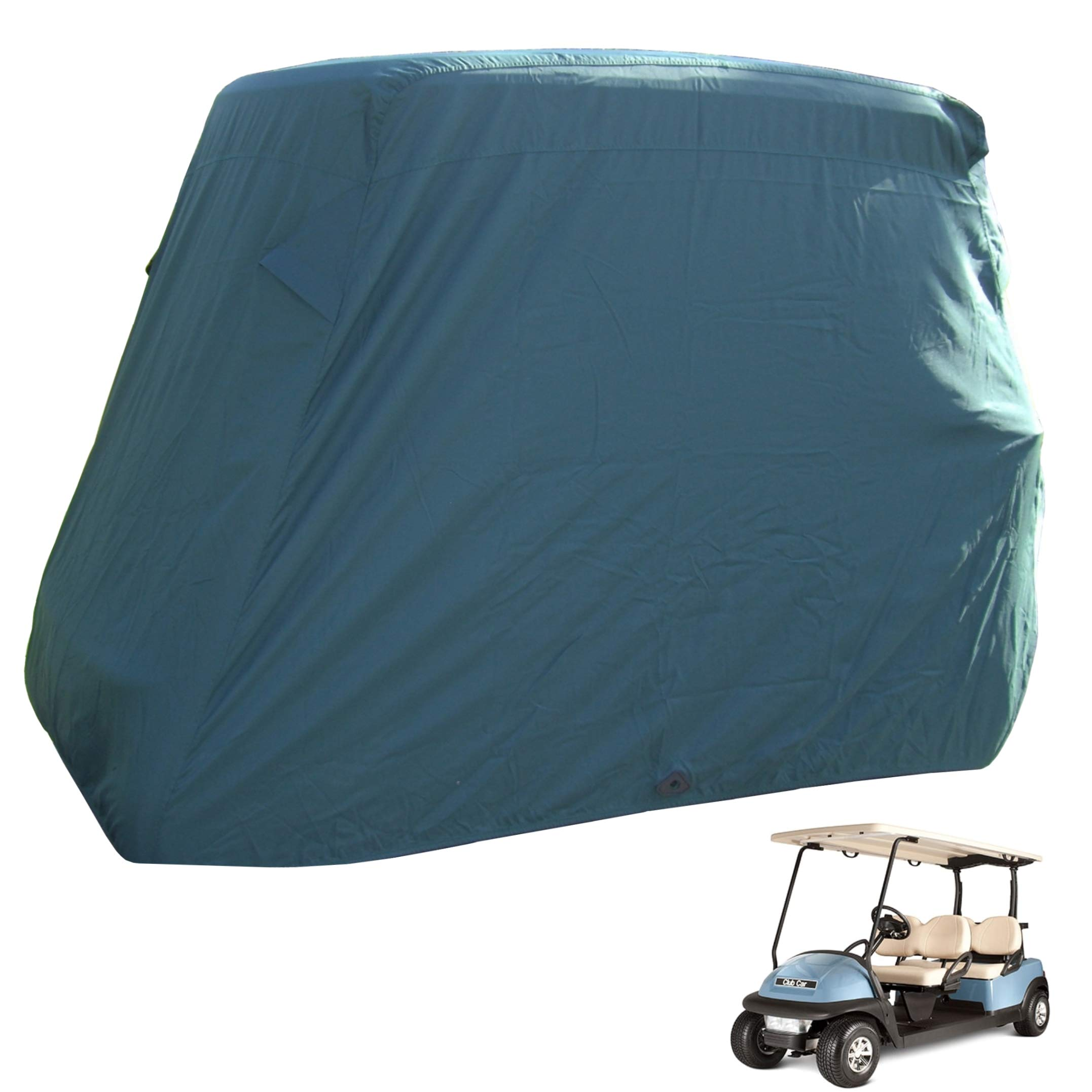 Golf Cart Cover 4 Seater roof up to 80''L Green, fits EZGO, Club Car and Yamaha G/YDR model