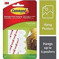 Command Languettes adhésives pour posters 46 mm x 16 mm 12 languettes (Import Royaume Uni)