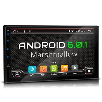 XOMAX XM-2VA701 Android 6.0.1 Radio de Coche con GPS I 7 &quot