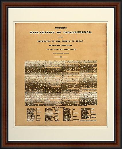 Amazon Texas Declaration Independence High Quality Replica 1836 Broadside Print