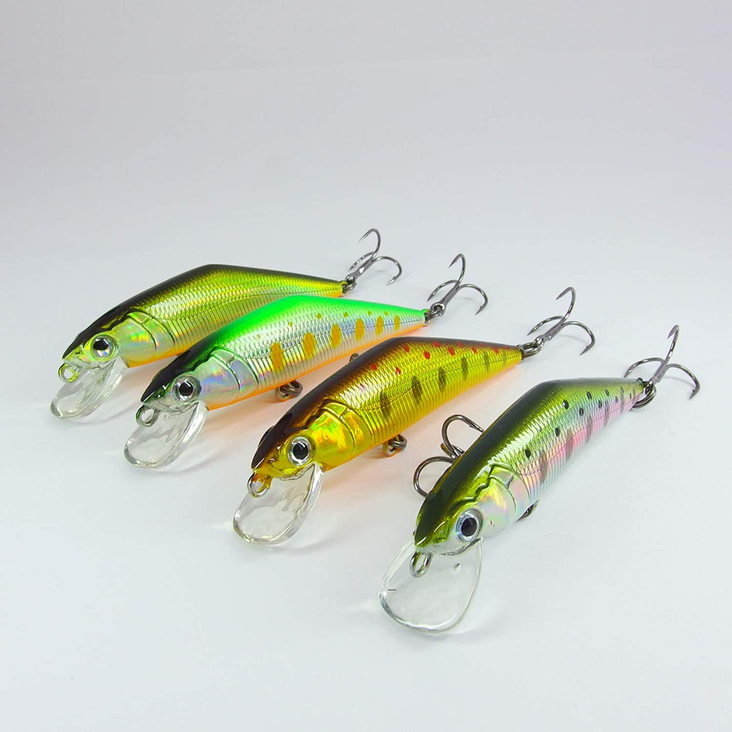 momolures Set Package x Heavy Sinking Minnow 63mm 7.5g d-contact style for Trout Pike Perch Lure Fishing