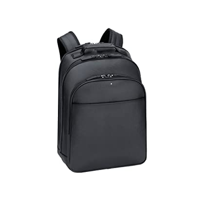 Image Unavailable. Image not available for. Color  Montblanc 111137 Black  Leather City Bag Extreme Rucksack 5394604516