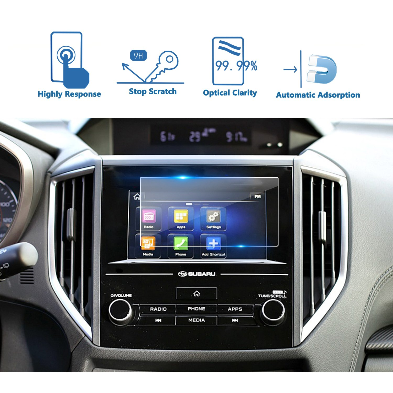 LFOTPP 2018 Subaru Crosstrek Impreza Starlink 6.5 Inch Car Navigation Screen Protector, [9H] Tempered Glass Infotainment Center Touch Display Screen Protector Anti Scratch High Clarity