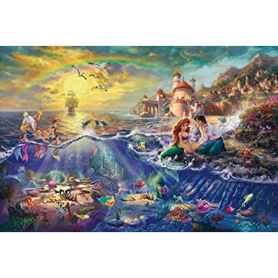 Kkxka The Mermaid Figure Puzzle Cartoon Anime Puzzle for Adult Children's Educational Toy Puzzle Game(1000 Pieces): Toys & Games