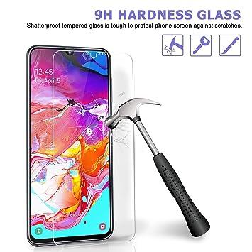 Madan] Protector de Pantalla para Samsung Galaxy A70 de Cristal ...