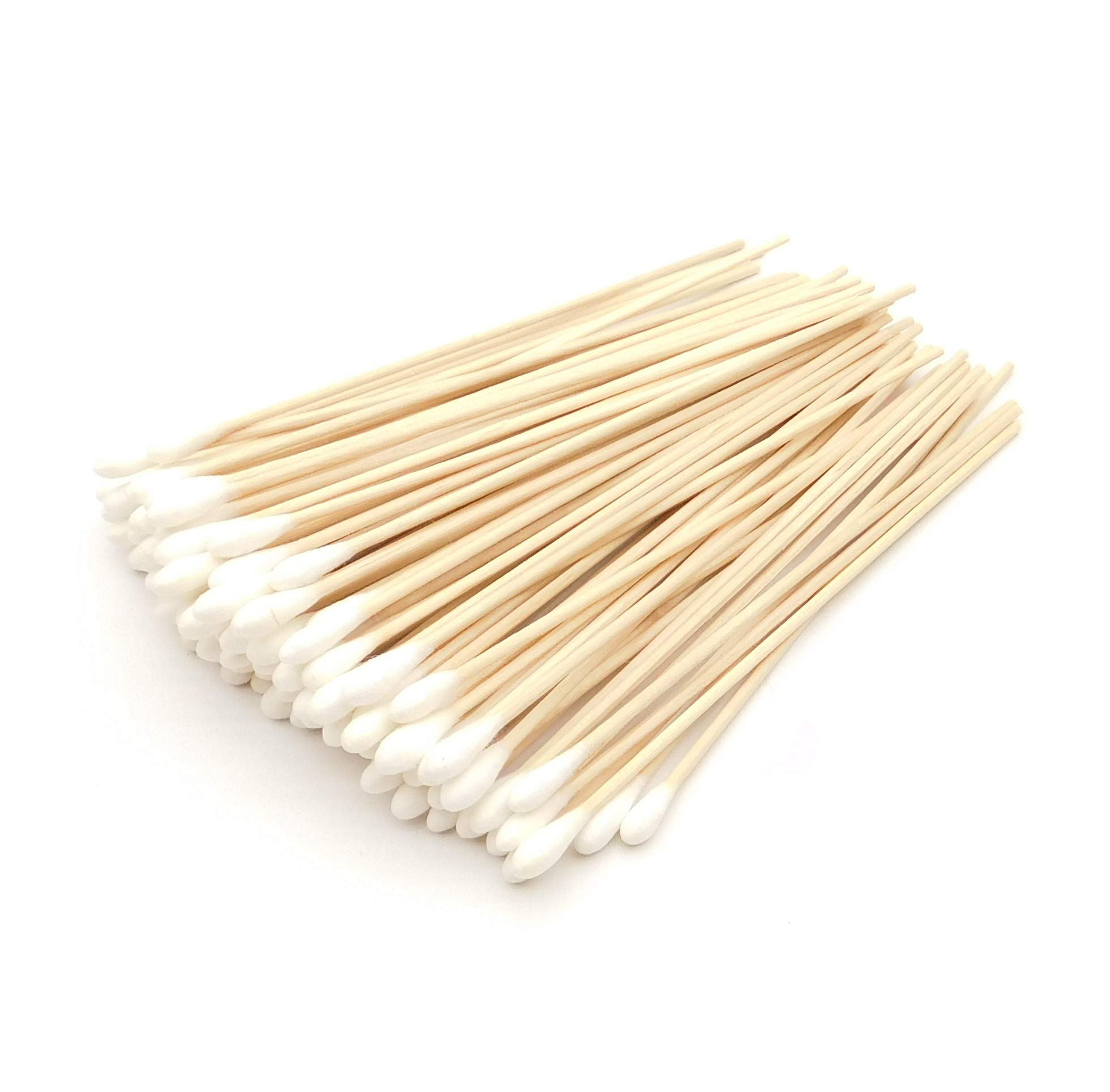 HEALTHCARE SUPPLIER 6'' Wooden Shaft Cotton Tipped Applicators (1000 Count) - Professional Dentist Office Supplies