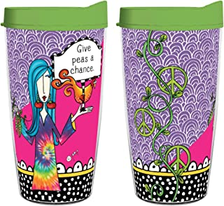 product image for Smile Drinkware USA - Dolly Mama-Dolly Mamas 16oz tumblers. Many styles to choose from. (Give Peas A Chance)