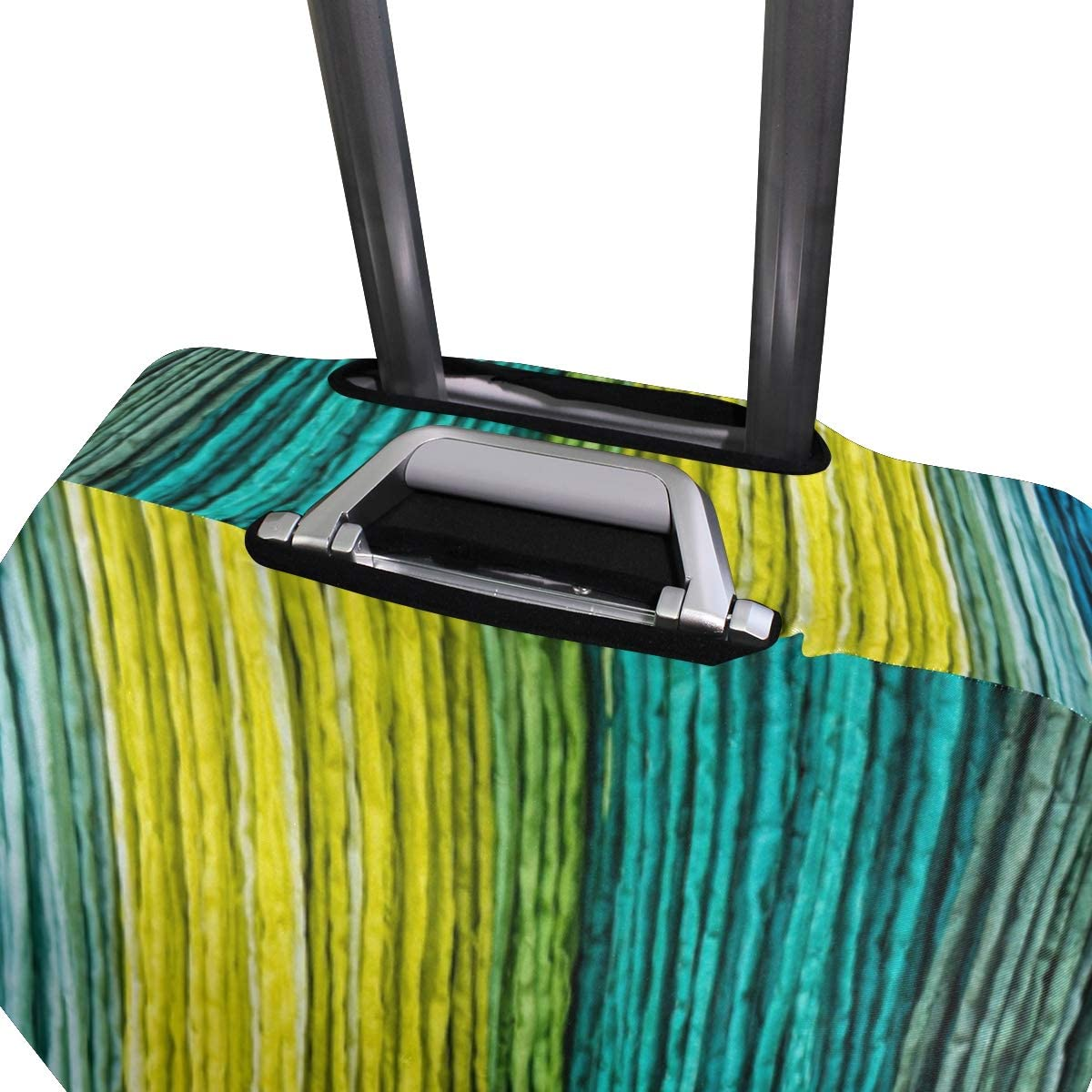 Travel Luggage Cover Multicolored Fabric Texture Background Suitcase Protector Fits 22-24 Inch Washable Baggage Covers