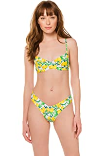 87dda0c9c4f8a2 Amazon.com: Onia Women's x We Wore What Ace Bikini Top, Retro ...