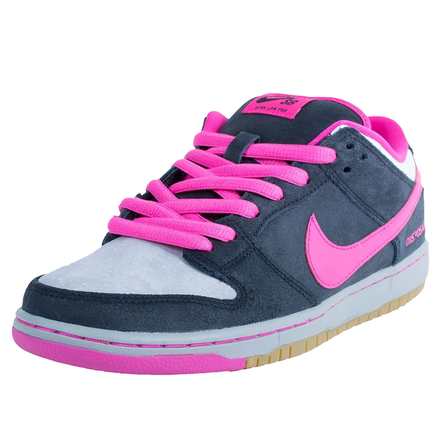 quality design 2d055 c0fa8 Amazon.com   Nike Mens Dunk Low Premium SB QS Disposable Black Pink  Foil-White Leather Skateboarding   Basketball
