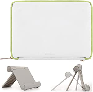 "VanGoddy Multi-Angle Stand and White Lawn Tablet Sleeve Case 10-inch for Lenovo IdeaPad Miix 320 10.1"", Yoga Book C930 10.8"", Smart Tab P10 M10, Tab 4 10"