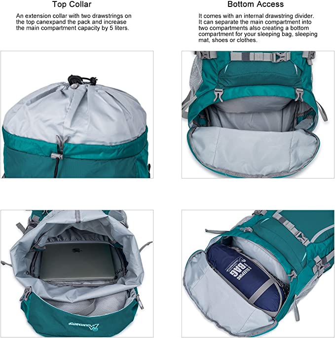 Functionality of Mountaintop 70L Hiking Backpack