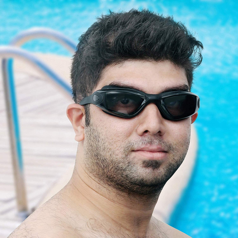 Adulto Gafas de natación Profesional Espejo Vasos - Ojo de Silicona rígida,Impermeable - Tintado Gafas de Natación con Estuche - Protección UV - Triatlón Gafas Unisex para Adultos Hombres Mujeres