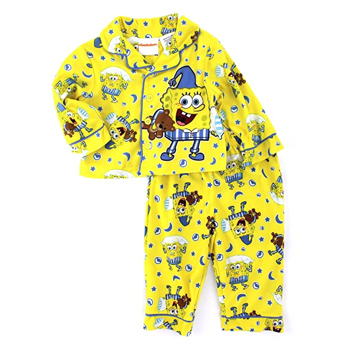 6ab0ce376 Spongebob Squarepants Baby Toddler Flannel Pajamas (24M)  Amazon.ca ...