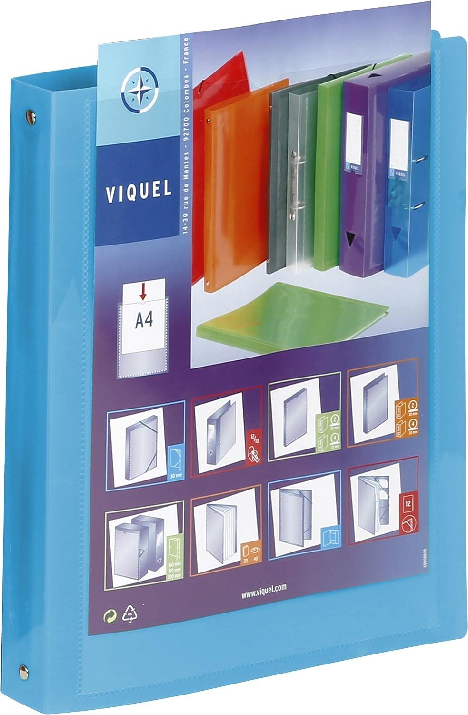 /formato A4/ /Raccoglitore morbida in plastica 4/anelli/ /Etichetta di identificazione/ Viquel/ /Raccoglitore Personalizzabile Dos 3,5/cm/ /QUALIT/À superiore/&n