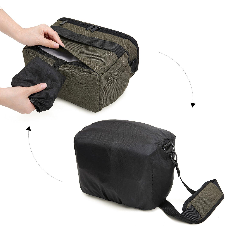 Bolso bandolera impermeable para c/ámara de fotos SLR//DSLR. BAGSMART