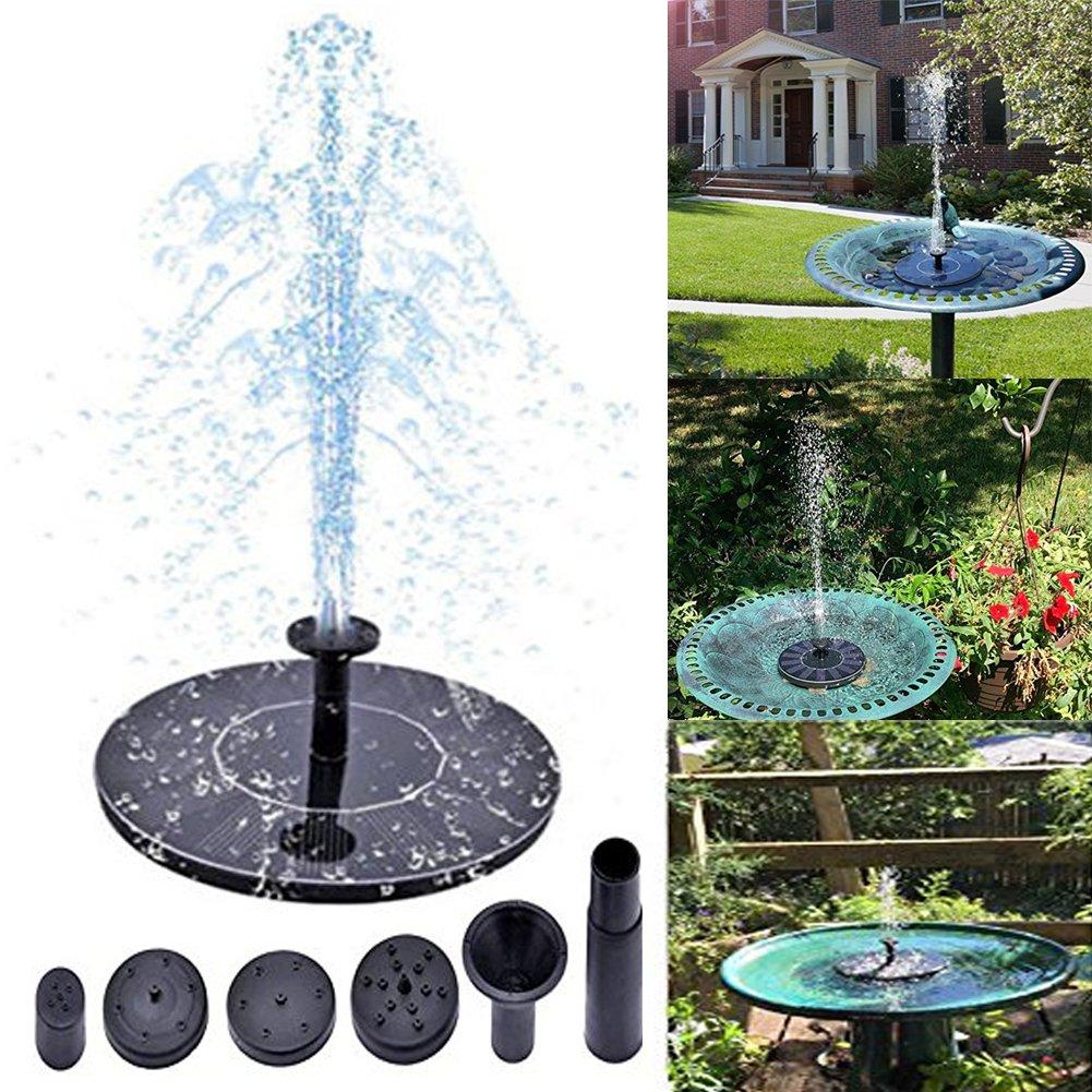 Solar Fountain,Solar Powered Bird Bath Fountain Pump Water Pump