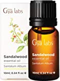 Gya Labs Sandalwood Essential Oil - Woody & Earthy Aroma to Increase Focus - Acne Treatment for Dry Skin - 100% Pure…