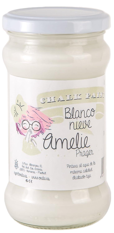 Amelie Prager 280-01 Pintura a la Tiza, Blanco Nieve, 280 ml