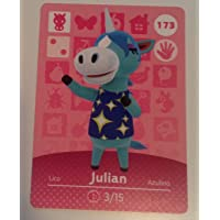 Nintendo Animal Crossing Happy Home Designer Amiibo Card Julian 173/200 USA Version
