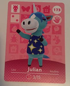 Nintendo Animal Crossing Happy Home Designer Amiibo Card Julian 173/200 USA Version