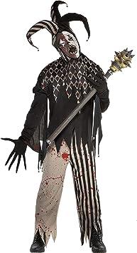 amscan Disfraz de bufón retorcido Malvado de Halloween para Hombre ...