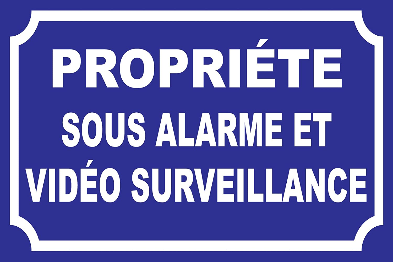 panneauxsignaletiques.fr Panneau Propri/ét/é sous Alarme et vid/éo Surveillance