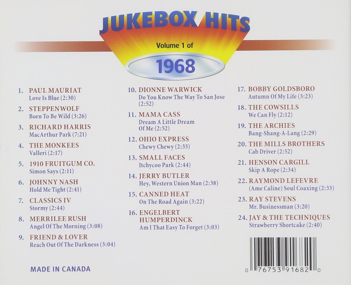 Jukebox Hits Of 1968 Vol. 1 by Jukebox