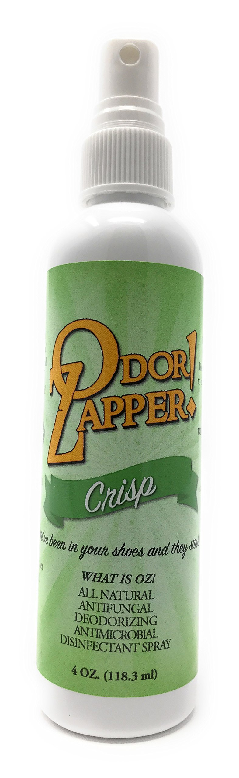 Odor Zapper Disinfectant Spray - For use in Shoes, Gym Bags, Yoga Mats and More! - ''Crisp''